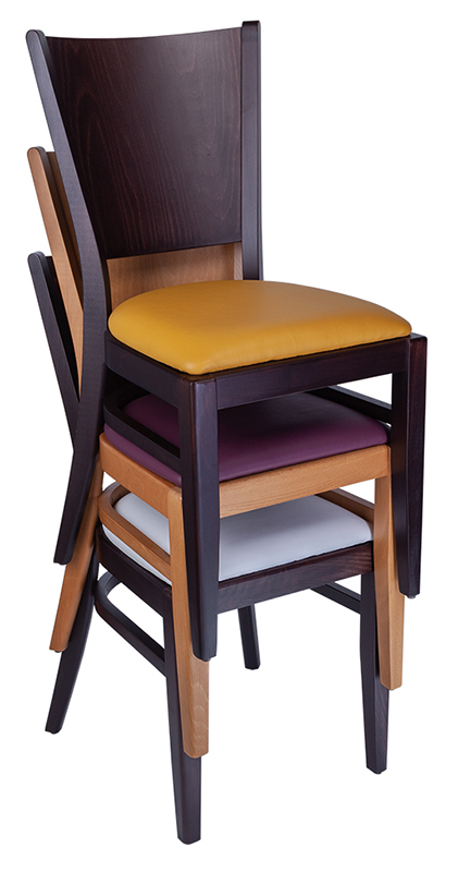 Photograph of three Rockit stools set at different heights, one red, one black and one white
