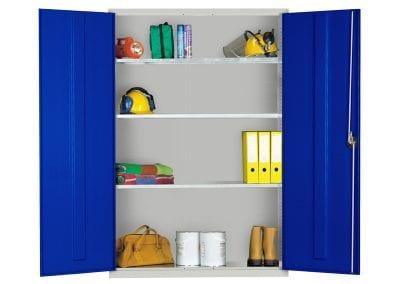 Tick Solutions 2 Blue Door Steel Storage Cabinet