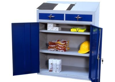 Tick Solutions Steel Storage Cabinet with Lectern