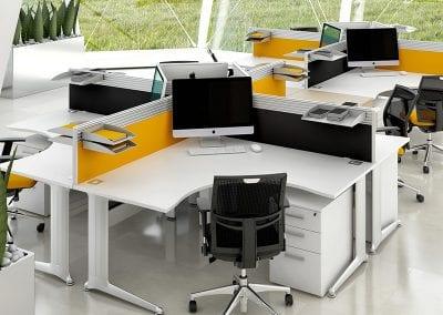Tick Solutions Desk Top Screens - Coloured Multi-purpose