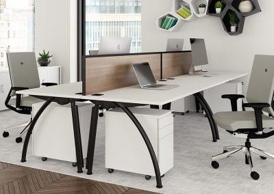 Tick Solutions Desk Top Screens - Designer Wood