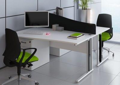 Tick Solutions Desk Top Screens - Wave Top
